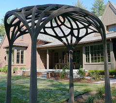 Arbor Neo-Nouveau -- HandMade House at The Ramble - sculptor Martin Webster - Biltmore Forest, NC near Asheville