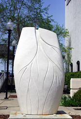 Stream - sculpture by Martin Webster in Wilmington, North Carolina